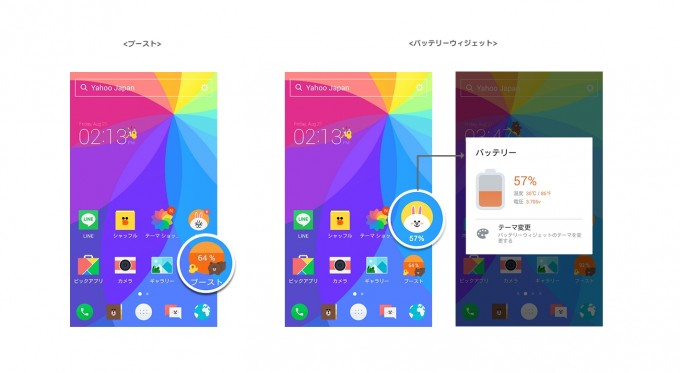 Android向けアプリ「LINEランチャー」ウィジェット紹介