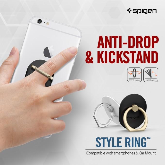 車のダッシュボードに固定できるフック付き、落下防止リング「Style Ring」TOP