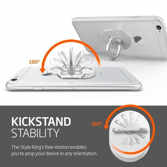 車のダッシュボードに固定できるフック付き、落下防止リング「Style Ring」360度