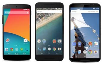 Nexusシリーズ3機種