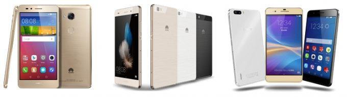 HUAWEI SIMロックフリースマートフォン5機種 ソフトウェアアップデート