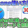 iPhoneのSafariで保存したパスワードを確認・削除する方法【iPhone使い方講座30限目】