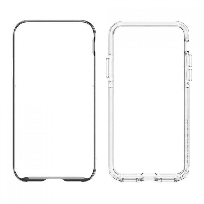 iPhone X用バンパーケース「ネオ・ハイブリッド EX」2