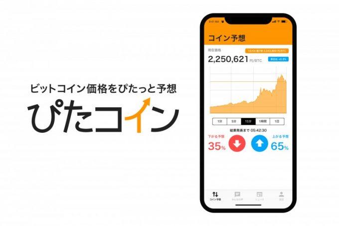 明日のビットコイン価格をみんなで予想するアプリ「ぴたコイン」2