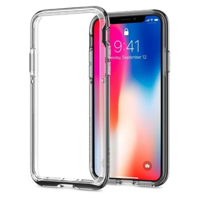 iPhone X用バンパーケース「ネオ・ハイブリッド EX」