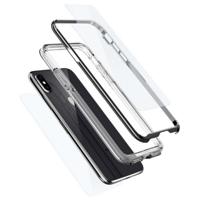 iPhone X用バンパーケース「ネオ・ハイブリッド EX」3