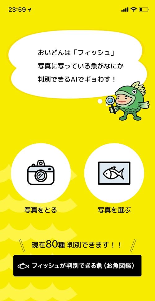 人工知能をつかった魚種判定アプリ「フィッシュ」02