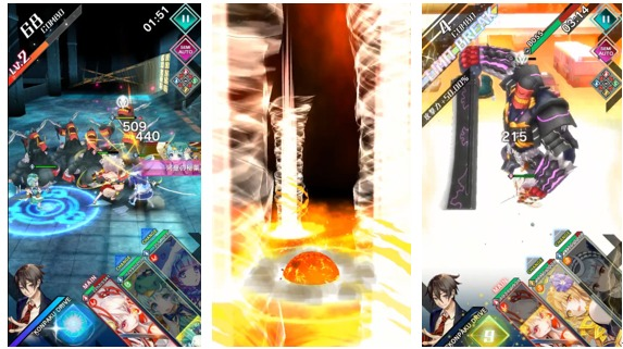 キズナを繋げるスタイリッシュ妖怪RPGゲーム画面