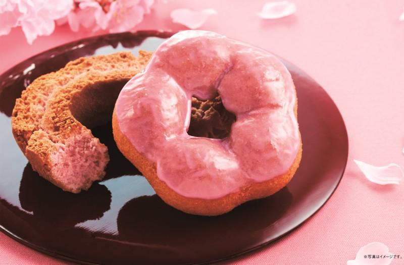『桜の花ドーナツ』『桜ファッション』期間限定発売0001