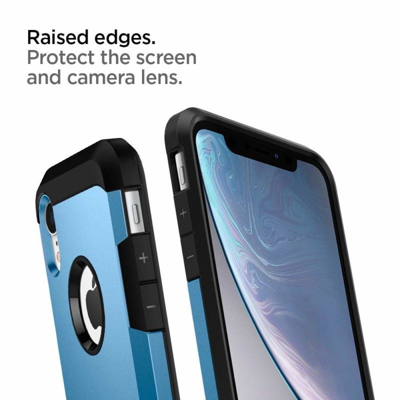 iPhone XR用ケース「タフ・アーマー」の新色レッド、ブルー3