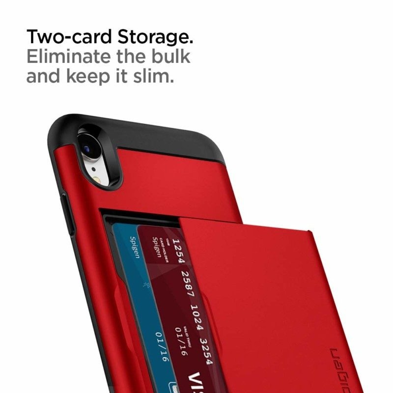 カード収納ケース「スリム・アーマー CS」の新色レッド、ブルー3