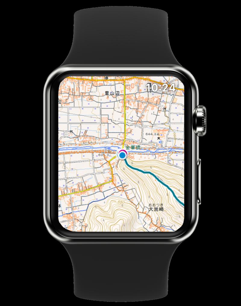 Apple Watch 対応の登山地図アプリ「ヤマレコMAP」0003