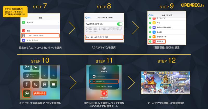 スマートフォンからの配信手順2