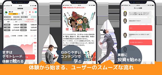 株式投資入門者向けスマホアプリ「株たす」2