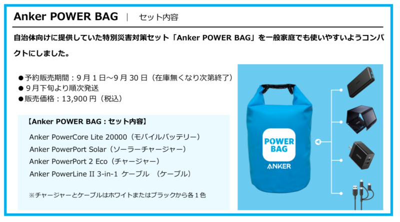Anker POWER BAGセット内容