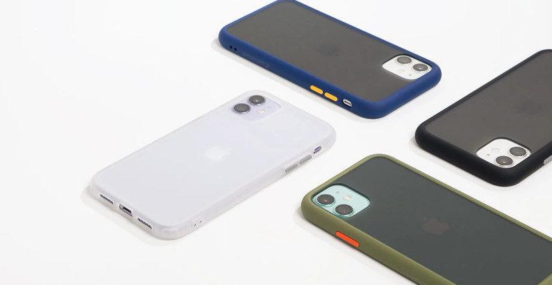 iPhone 11シリーズケース「カラーブリック」