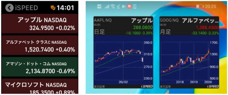 トレーディングアプリ「iSPEED」で米国株式の取引3