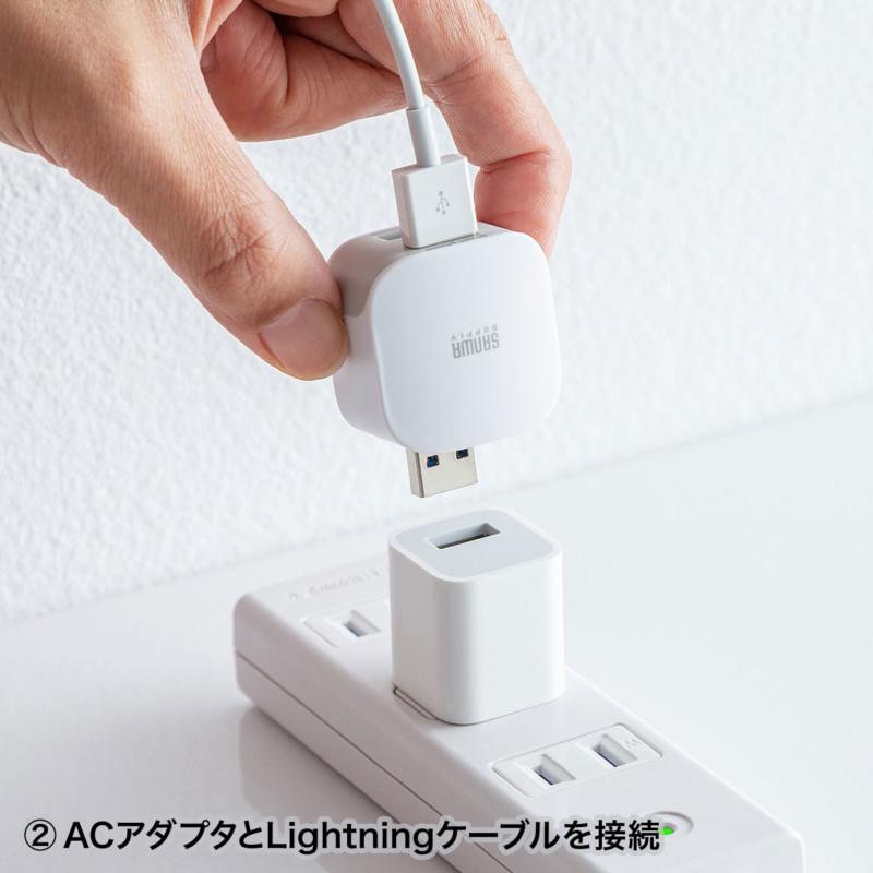 パソコンを使わずにiPhoneやiPadのデータバックアップができるカードリーダー「ADR-IPBUW」4