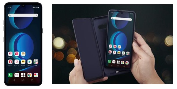 2画面スマートフォンLG V60 ThinQ 5G