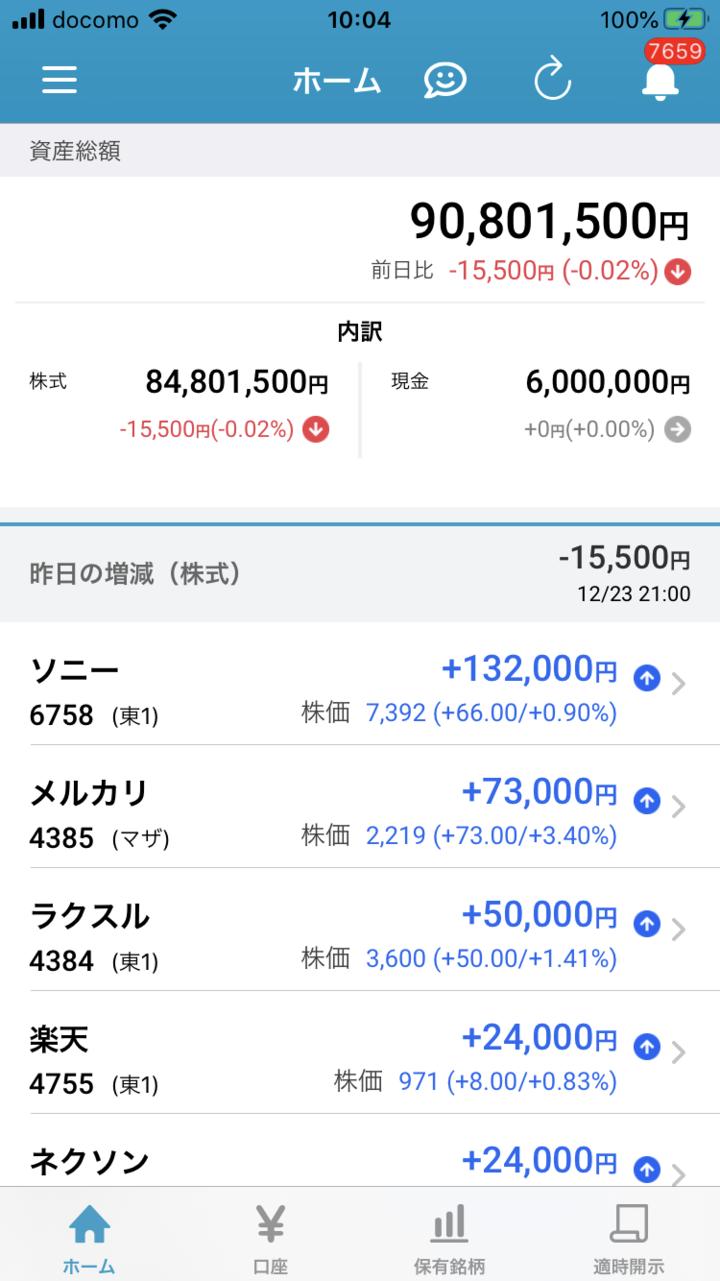 株式投資ポートフォリオ管理アプリ「ロボフォリオ」画像