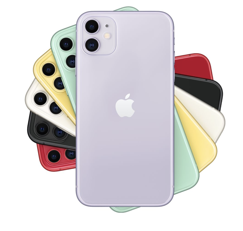 iPhone11カラーラインナップ
