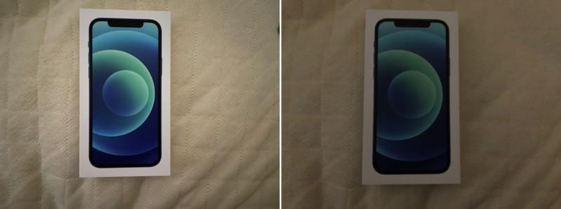 iPhone12とiPhoneXカメラ比較暗所撮影-side