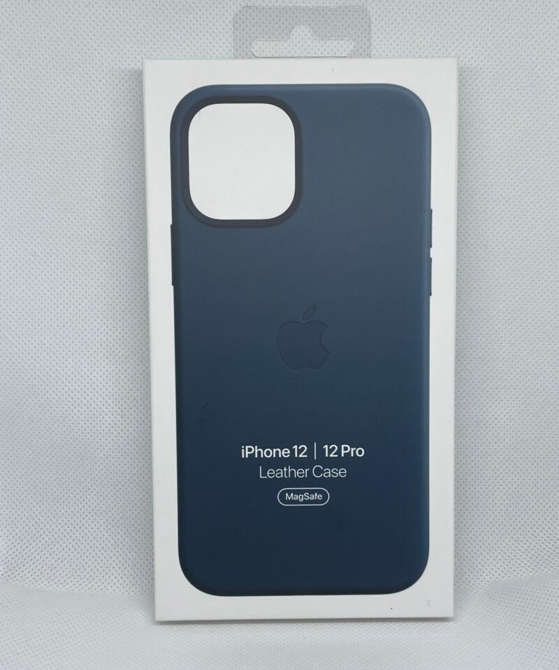 MagSafe対応iPhone 12 | iPhone 12 Proレザーケース - バルティックブルー箱1