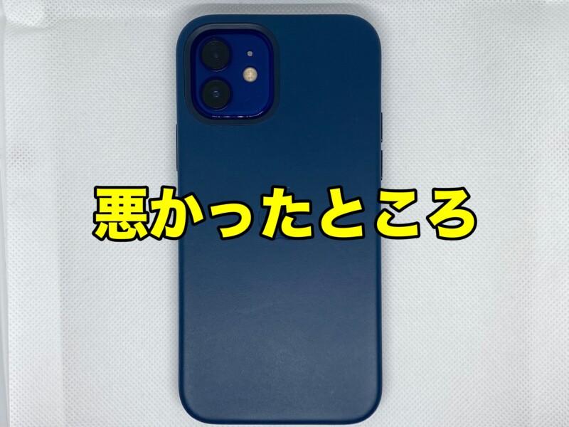MagSafe対応iPhone 12 | iPhone 12 Proレザーケース - バルティックブルーの悪かったところ