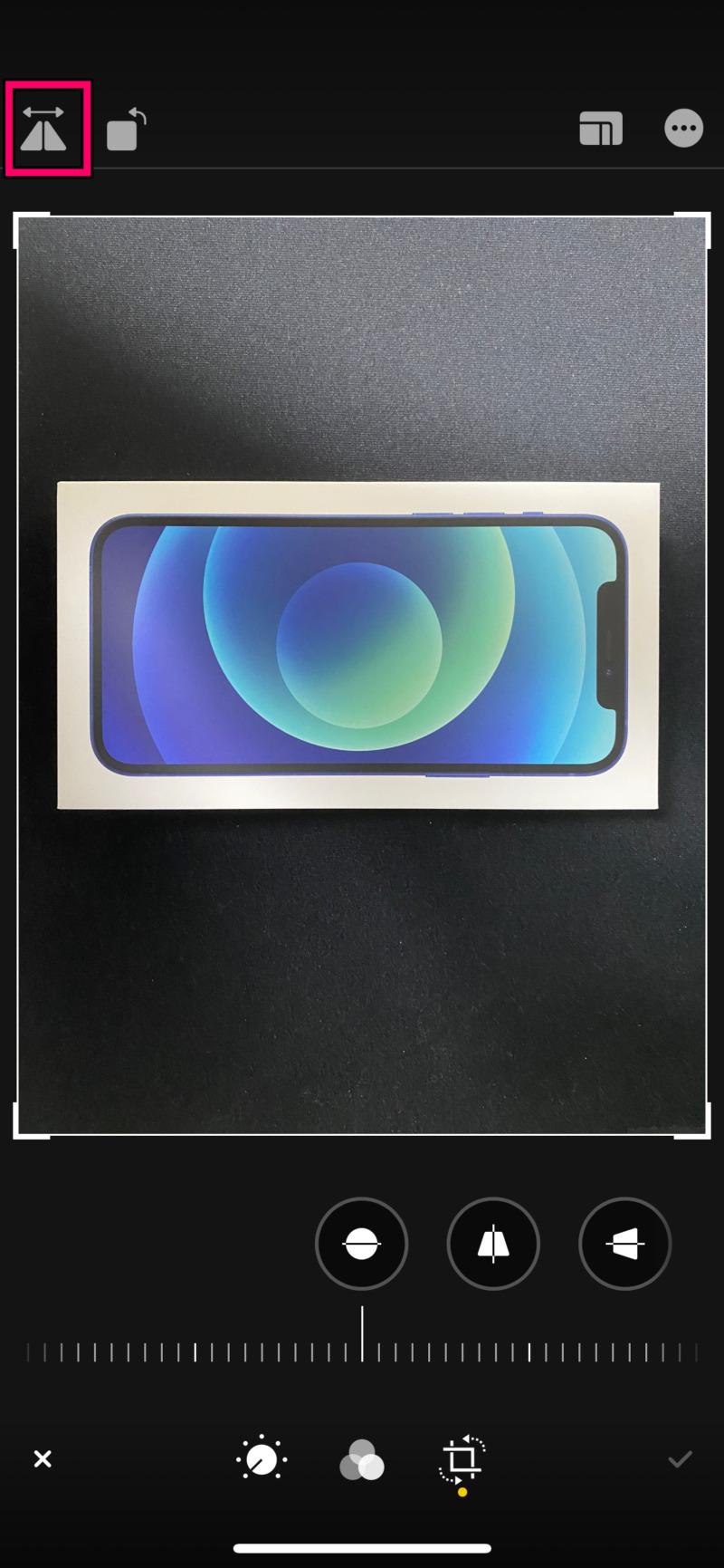 iPhoneの写真アプリで画像を左右反転