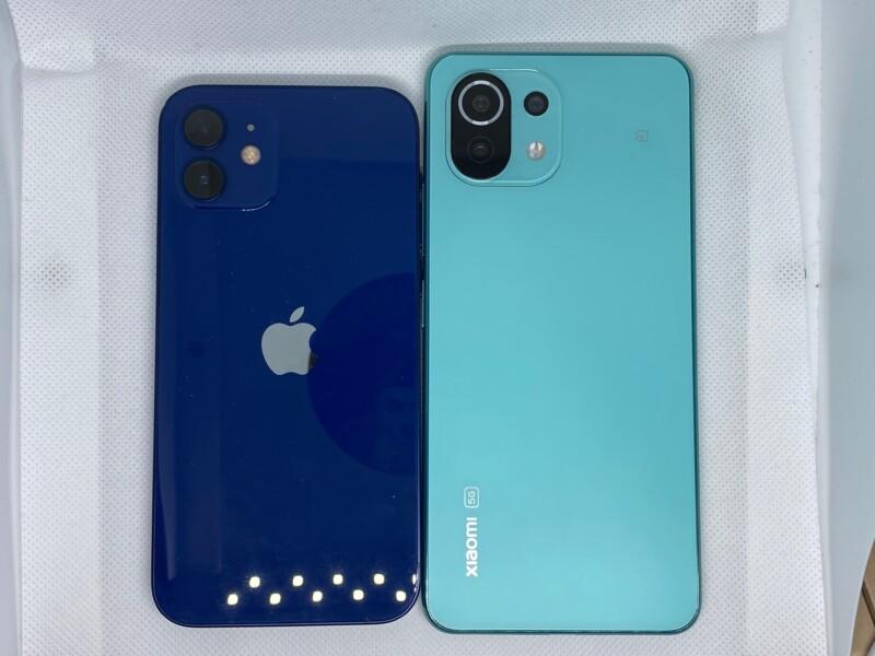 iPhone12とMi 11 Lite 5Gの大きさ比較