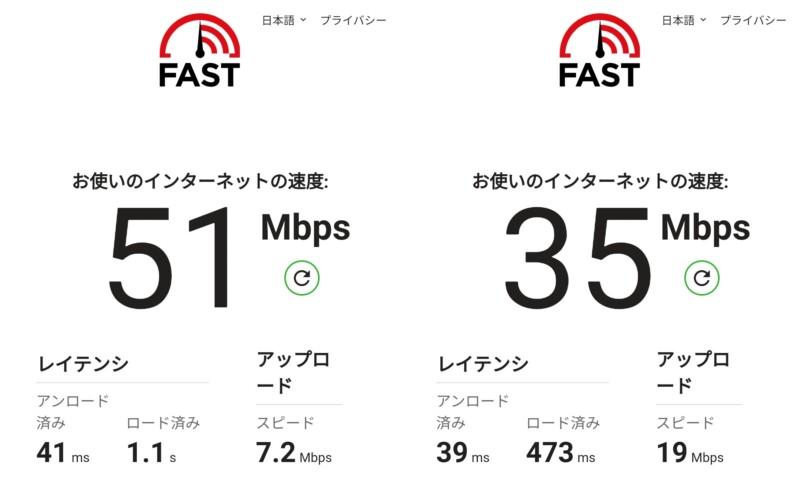 Mi 11 Lite 5Gでahamoと楽天モバイルのスピードテスト