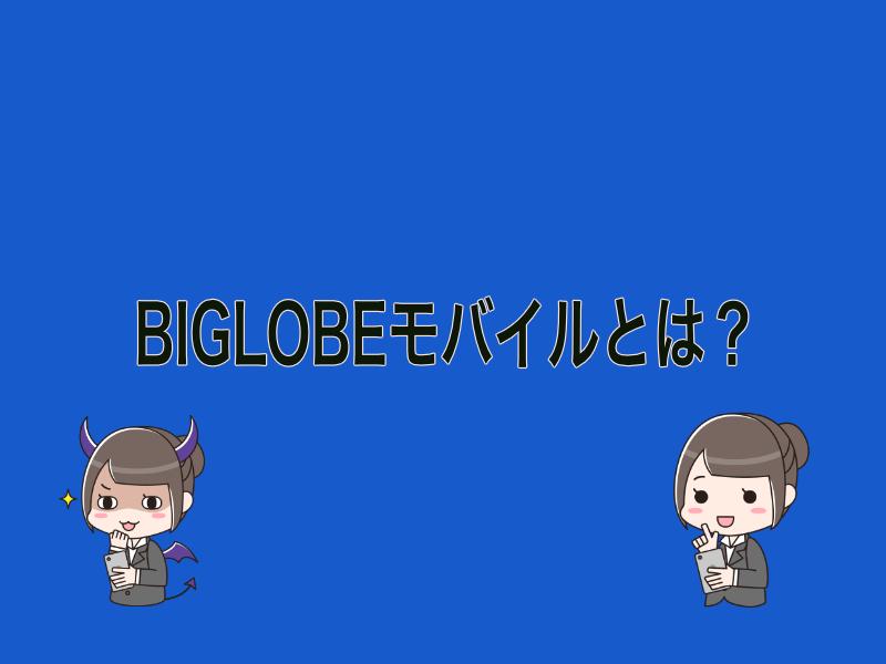BIGLOBEモバイルとは?